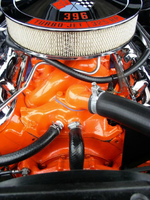 Chevy Orange Powder Coated Intake Manifold